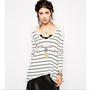 Tops - FREE PEOPLE Striped Thermal